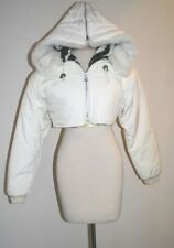 Vintage Bogner Ski Jacket  Womens White  Faux Fur Hood   Seigfried & Roy   Sz 8
