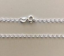 "Belcher Rolo Necklace Chain 40cm 16"" 3.10mm Round Genuine Sterling Silver 925"