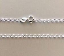 "Belcher Rolo Necklace Chain 55cm 22"" 1.50mm Round Genuine Sterling Silver 925"