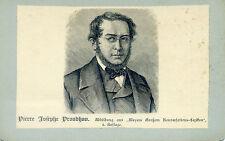 Wunderschönes altes CDV Portrait Pierre Josephe Proudhon Konversations-Lexikon
