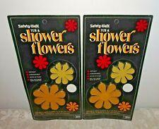 Vintage Bath Tub Shower Flower Appliqués NOS Pkg of 10 Non Skid Adhesive 1972
