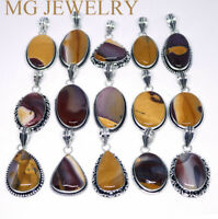 Natural Mookaite Gemstone 925 sterling silver Overlay wholesale lot pendants
