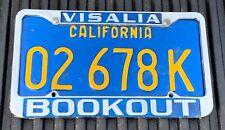 Vintage BOOKOUT DATSUN Visalia CA Dealer License Frame & Plate 240Z 510 S30 1600