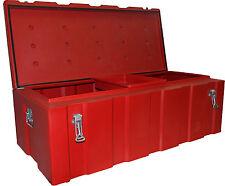 260lt B'ute Box - Tough Poly Toolbox 570mmW x 1170mmL x 400mmH - Red - NEW