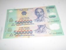 Vietnamese Currency 2x500,000=1 million dong Bank Notes brand new issue in 2018