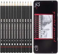 New ListingProfessional Drawing Sketching Pencil Set - 12 Pieces Drawing Art Pencils 8B-2H