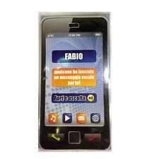 CUMPLEAÑOS tarjeta de cumpleaños musical en teléfono suena secretaría nome FABIO