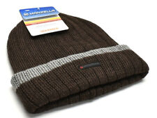 Manzella Watch Cap Beanie Knit Hat Men s Brown Grey New! NWT 80b1255331ac