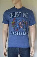 Vintage Marvel Avengers Captain America Iron Man Thor Graphic Tee T-Shirt L