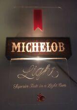 Vintage Lighted Michelob Light Beer Sign Bar Sign Anheuser Busch Mancave