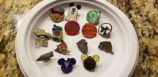Disney Parks Trading Pin Lot Of 14 -Lanyard Included