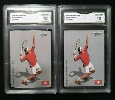 (2) 2003 Netpro Elite Roger Federer 1 of 2000 GMA Graded Gem Mint 10 PSA BGS