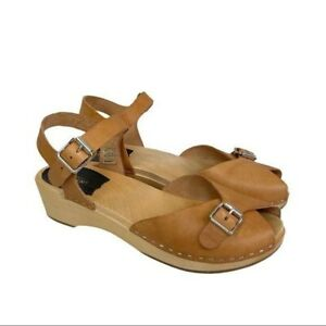 Swedish Hasbeens Pia Debutant Heeled Sandals Womens size 39 US 9