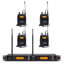 In Ear Monitor System UHF Wireless Professional Audio 4 Receivers Whole Metal