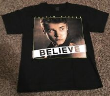 JUSTIN BIEBER BELIEVE TOUR 2012-2013 EXTRA SMALL T-SHIRT POP MUSIC EUC