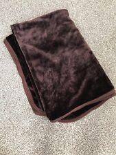 Large Chocolate Brown Faux Fur Throw