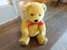 """Vtg Deans Mohair London Gold Mohair Teddy Bear Jointed England 13"""" Original Tags"""
