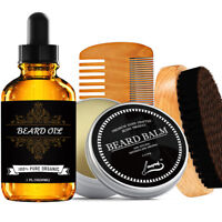 Beard Oil _ Beard Balm _ Beard Brush _ Beard Comb _ Grooming Beard Oil Kit