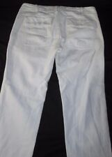 American Eagle Outfitters Women's 0 Utility White Cropped Capri ButtonFly A02-12