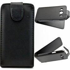 New Black Magnetic Flip PU Leather Case Cover For Samsung Galaxy Ace 4 G357F