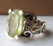 QVC Ann King Designer Sterling 18K Gold Large Oval Lemon Citrine Ring Sz8- 14.5g