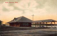 Postcard Railroad Depot in Wareham, Massachusetts~121516