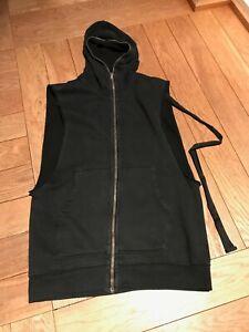 Rick Owens DRKSHDW black hooded vest size M
