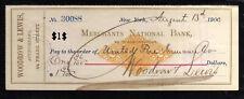 A1600 - 1900 MERCHANTS NATIONAL BANK - NEW YORK