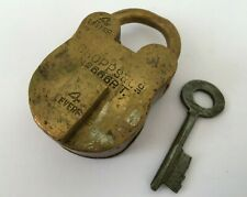 Lock 1930'S Vintage Choppes & Co. 4 Lever Aligarh Full Brass Padlock