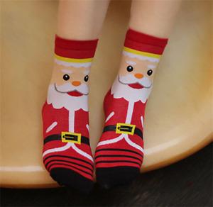 Cartoon Cute Socks Santa Claus Collection Celebrates Christmas With Cotton Socks