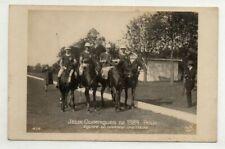1924 Olympics RPPC Great Britain POLO Team Photo Postcard Paris AN Vintage