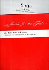 2-Piece Set FLUTE Sheet Music Books J S BACH SUITE in B minor SOLO & ACCOMPANIME