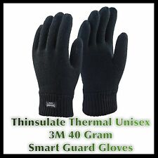 THINSULATE QUALITY UNISEX BLACK 3M THERMAL GLOVES WINTER WARM ONE SIZE 4O Gram
