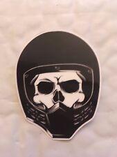 Skeleton wearing motorcycle helmet  Sticker  Laptop, Car Vinyl Decal New