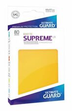 Ultimate Guard - Supreme UX Sleeves Standard Matte Yellow 80 Kartenhüllen Hüllen