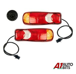 Rear Tail Lights Stop Indicator Reverse For Peugeot Boxer Tipper Chassis 6 PIN