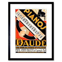 Jazz Guitar Piano Music Art Deco Fashion Style Vintage Poster Repo FREE S//H