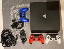 Sony PlayStation 4 pro 1tb negro con paquete de accesorios 3 Controller +, estación de carga