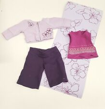 AMERICAN GIRL Retired 2009 YOGA GEAR Outfit with YOGA MAT and BOOK      (A01-04)