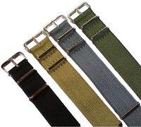 Nylon Uhrenarmband Edelstahl Dornschließe 16-24mm Textil Armband Strap Band