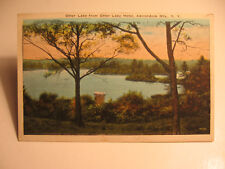 1927 Otter Lake from Otter Lake Hotel, Adirondack Mts., N.Y. postcard