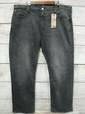 """Levi's 569 Jeans Mens Size 34X30 (29"""") Loose Straight Fit Dark Grey Stretch New"""