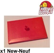 Lego x1 Plate plaque 4x6 Train Wagon bogie boggie rouge/red 4025 10254 NEUF
