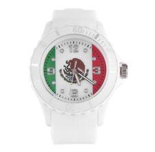 Reloj de Hombre y Mujer de Goma Relojes Deportivos de Bandera Mexico Mexicana