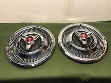 """1966 Plymouth Belvedere Satellite 14"""" Spinner Hubcaps Pair Wheel cover 2534910"""