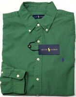NEW $89 Polo Ralph Lauren Long Sleeve Shirt Mens Green Oxford Cotton NWT