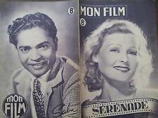 """MON FILM 1947 N 48 """" SERENADE """" avec LILIAN HARVEY et LOUIS JOUVET"""