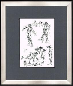 Frank Frazetta - Old sketch INK !!! very nice piece !!!