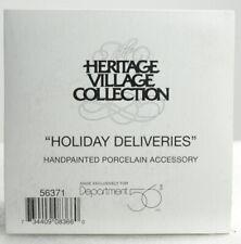 """Dept 56 Heritage Village """"Holiday Deliveries"""" Brand New"""