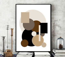 Prints, Posters, Minimalist Neutral Contemporary Art Abstract Art Modern Canvas
